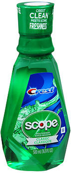 Scope Crest Classic Mouthwash Original Mint - 16.9 oz