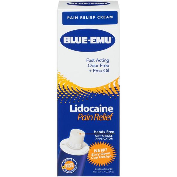 Blue-Emu Numbing Pain Relief Cream with Lidocaine - 2.7 oz