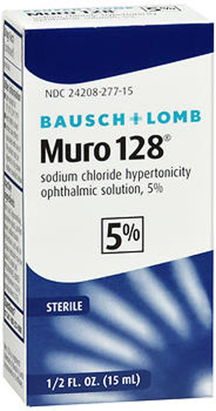 Bausch + Lomb Muro 128 Solution 5% - 0.5 oz