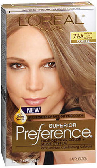 L'Oreal Superior Preference - 7-1/2A Medium Ash Blonde (Cooler)