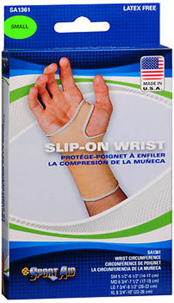 Sport Aid Slip-On Wrist Support, Small - Each
