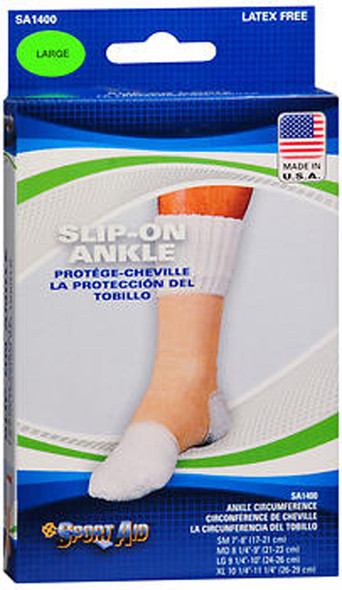 Sport Aid Slip-On Ankle Support LG - 1ea