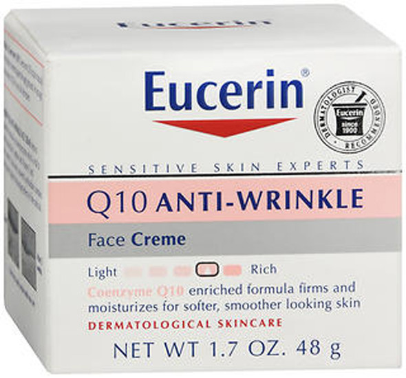 Eucerin Q10 Anti-Wrinkle Sensitive Skin Creme - 1.7 oz