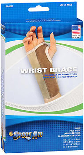 Sport Aid Left Wrist Brace Large Long - 1 ea.