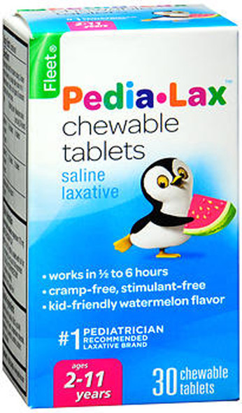 Fleet Pedia-Lax Chewable Tablets, Watermelon Flavor for Children - 30 Ct