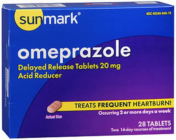 Sunmark Omeprazole Tablets - 28 ct