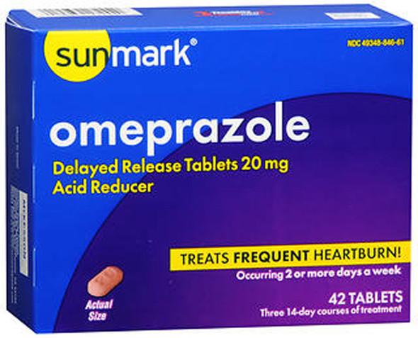 Sunmark Omeprazole Tablets - 42 ct