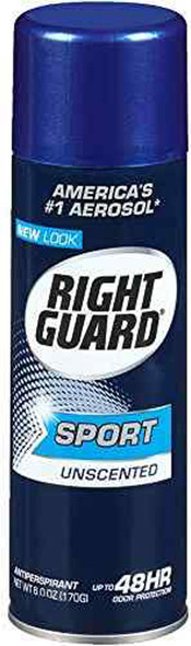 Right Guard Sport 3D Odor Defense Antiperspirant Deodorant Aerosol Unscented - 6 oz