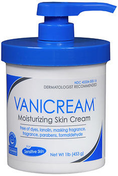 Vanicream Moisturizing Skin Cream for Sensitive Skin with Pump Dispenser - 16 oz