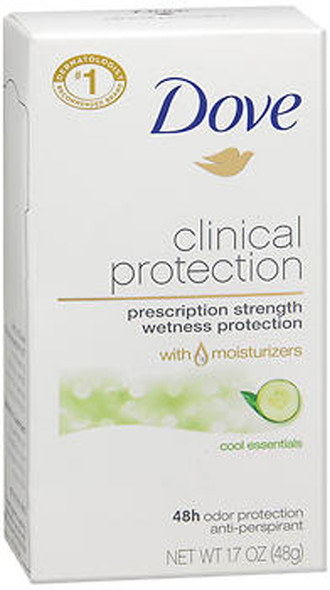 Dove Clinical Protection Anti-Perspirant Solid Cool Essentials - 1.7 oz