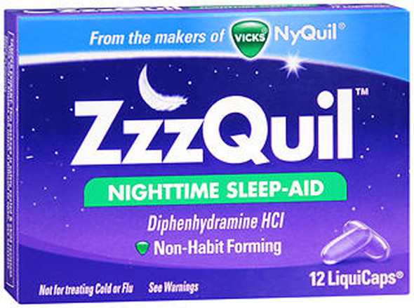 ZzzQuil Nighttime Sleep Aid - LiquiCaps - 12 Ct.