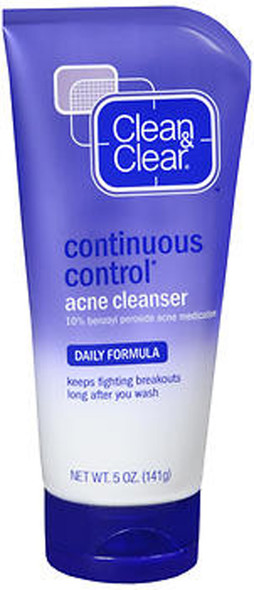 Clean & Clear Continuous Control Acne Cleanser Daily Formula - 5 oz