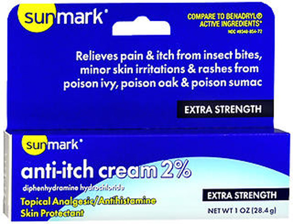 Sunmark Anti-Itch Cream 2% - 1 oz