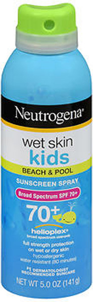 Neutrogena Wet Skin Kids Beach & Pool Sunscreen Spray SPF 70+ - 5 oz