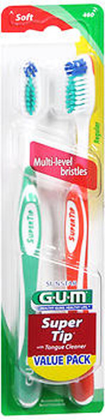 GUM Super Tip Toothbrushes Value Pack Soft Regular - 2 Each