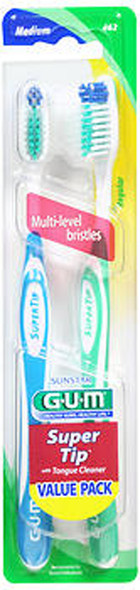 GUM Supertip Toothbrush Value Pack - Medium - 2 Each