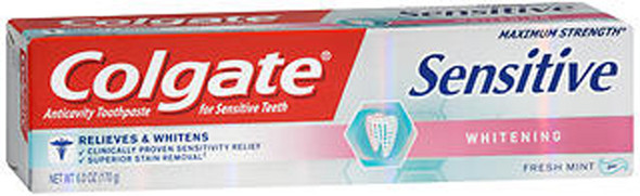 Colgate Sensitive Whitening Toothpaste - 6 oz