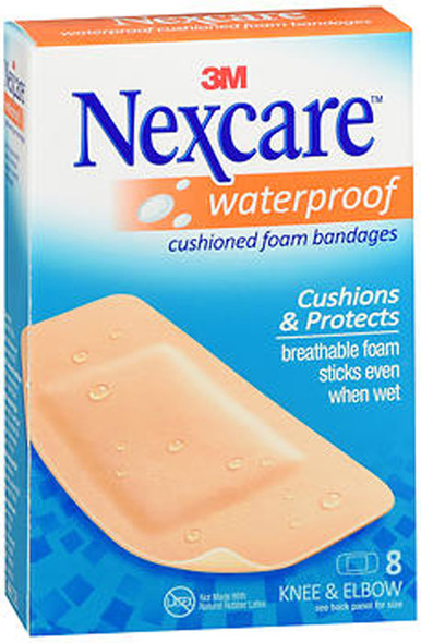 Nexcare Active Waterproof Bandages Knee & Elbow - 8ct