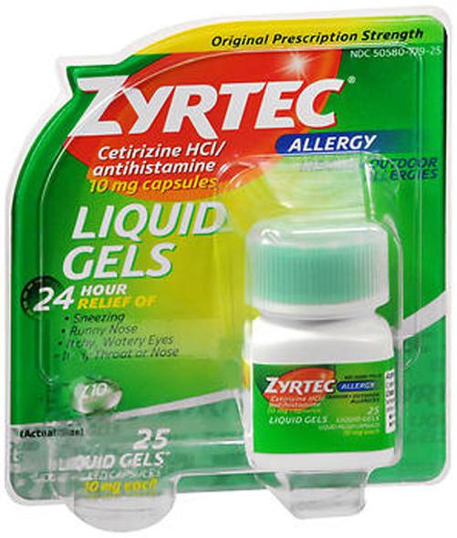 Zyrtec Antihistamine 10 mg Liquid Gels - 25 ct