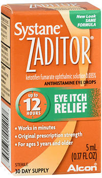 Zaditor Eye Itch Relief Antihistamine Eye Drops - 0.17 fl oz