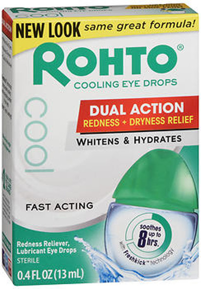 Rohto Cool Redness Relief Lubricant Eye Drops - 0.4 fl oz