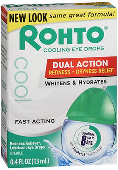 Rohto Cool Redness Relief Lubricant Eye Drops - 0.4 fl oz