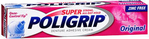 Super Poligrip Denture Adhesive Cream Original - 2.4 oz