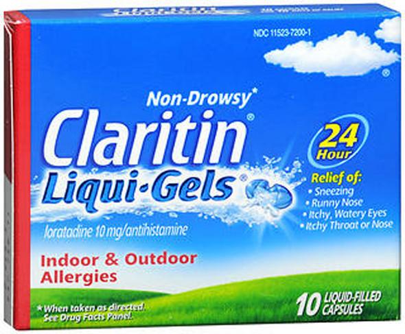 Claritin 24 Hour Allergy Relief Liqui-Gels - 10 ct