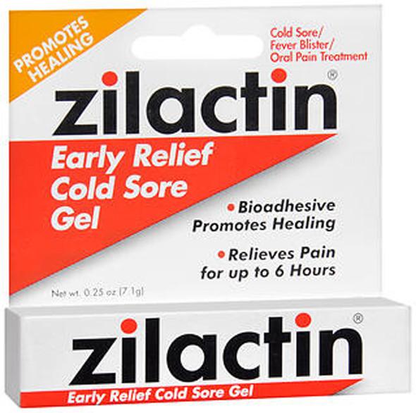 Zilactin Cold Sore Relief Gel - .25 oz (7.1 g)