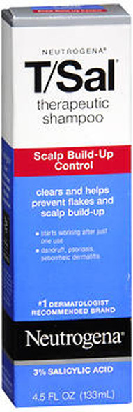 Neutrogena T/Sal Therapeutic Shampoo, Scalp Build-up Control - 4.5 oz