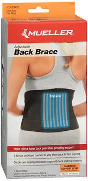 Mueller Sport Care Adjustable Back Brace One Size - Each