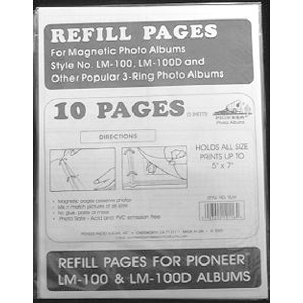 Magnetic Photo Album Refill 3 Ring, Clear - 1 Pkg