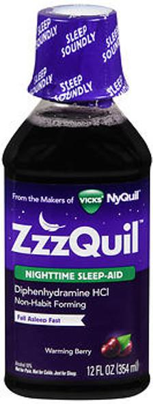 ZzzQuil Nighttime Sleep-Aid Liquid Warming Berry - 12 oz