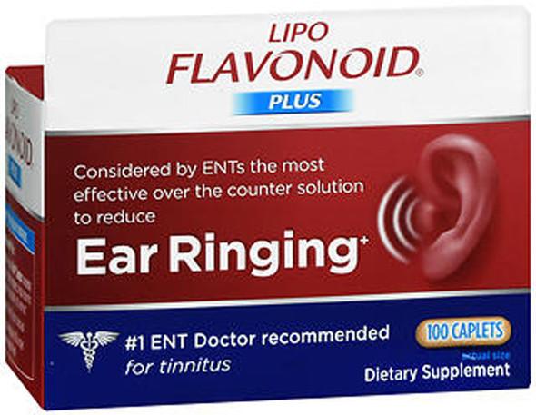 Lipo-Flavonoid Plus Inner Ear Health Dietary Supplement - 100 Caplets
