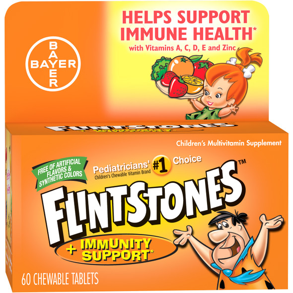 Flintstones Chewable Tablets Plus Immunity Support - 60 ct