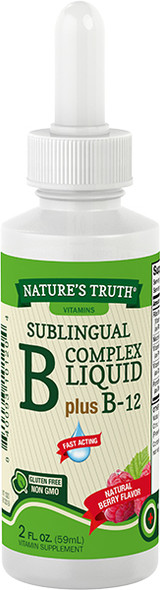 Nature's Truth Sublingual B-12 10,000 mcg Natural Berry Flavor Liquid - 2 oz