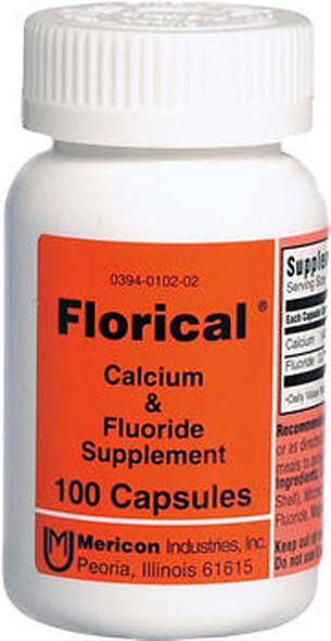 Florical Calcium & Fluoride Supplement Capsules - 100 Capsules