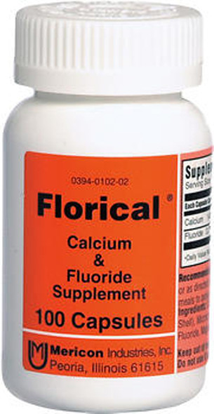 Florical Calcium & Fluoride Supplement Capsules - 100 Capsules