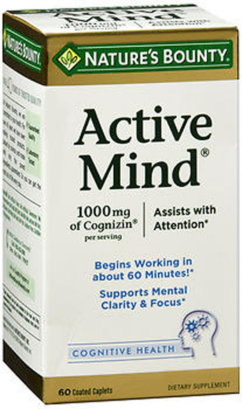 Nature's Bounty Active Mind Dietary Supplement Caplets - 60 ct
