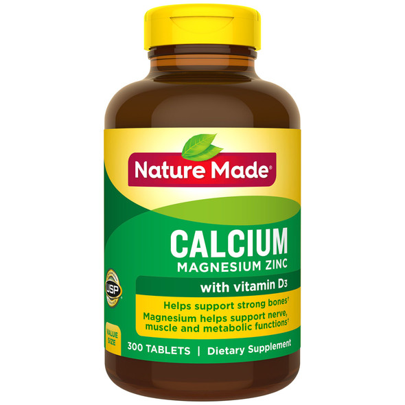 Nature Made Calcium Magnesium Zinc -300 Tablets