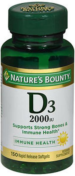Nature's Bounty D3-2000 IU Super Strength - 150 Softgels