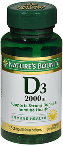 Nature's Bounty D3-2000 IU Super Strength - 150 Softgels