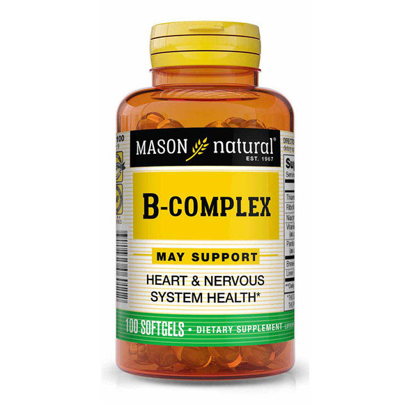 Mason Vitamins Natural B-Complex Softgels - 100ct