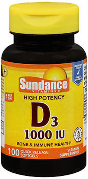 Sundance High Potency Vitamin D3 1000 IU Quick Release - 100 Softgels