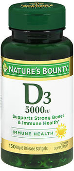 Nature's Bounty D-5000 IU Maximum Strength - 150 Softgels