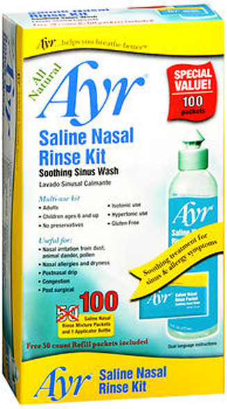 Ayr Saline Nasal Rinse Kit - 1 Bottle, 100 Refills