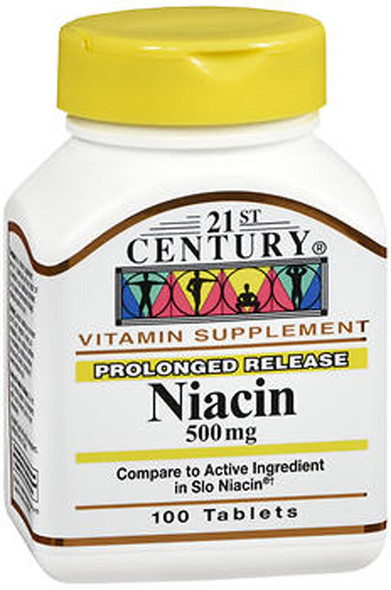 21st Century Niacin 500 mg Tablets Prolonged Release - 100 Tablets