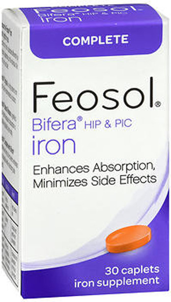 Feosol Bifera HIP & PIC Iron Supplement, Complete - 30 Caplets