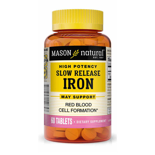 Mason Natural Slow Release Iron - 60 Tablets