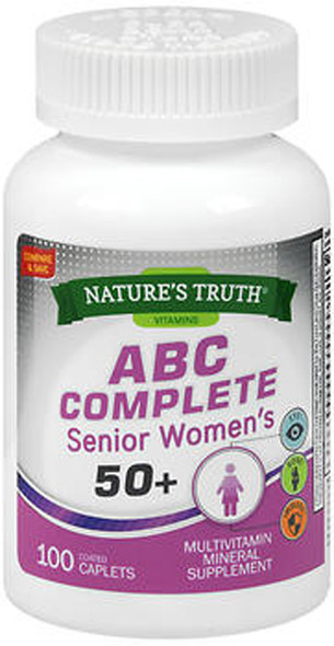 Nature's Truth ABC Complete Senior Women's 50+ - 100 Coated Caplets